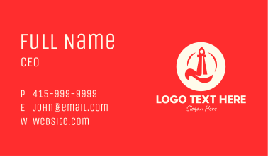 Red Rocket Launch Business Card