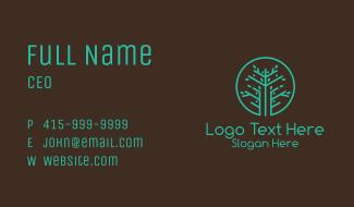 Green Botanical Tree Business Card