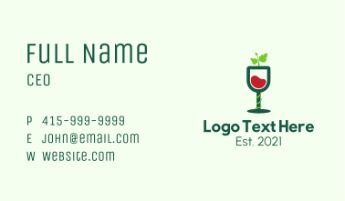 Wine Glass Vines Business Card