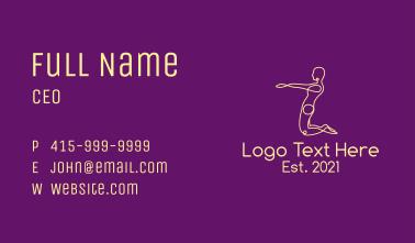 Yoga Pose Outline  Business Card