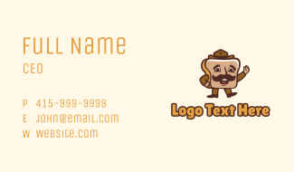 Bread Sheriff Mascot Business Card