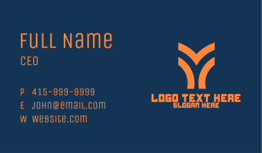 Sporty Letter Y Business Card