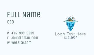 Snowy Iceberg Home Business Card