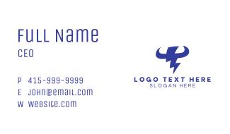 Blue Lightning Horns Business Card