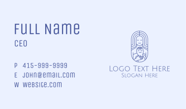 Blue Happy Mom  Business Card
