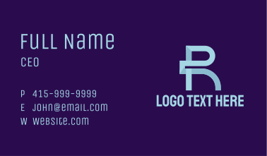 Professional Letter R Business Card