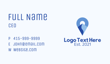 Mountain Pin Locator  Business Card