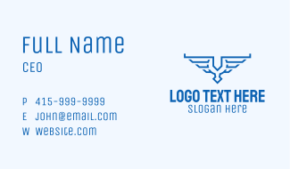 Aviation Wings Crest Business Card