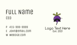 Radish Farm Mascot  Business Card