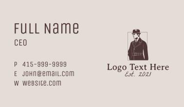 Man Vintage Coat Business Card