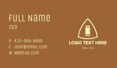 Simple Triangle Door Business Card