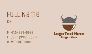 Viking Soup Bowl  Business Card