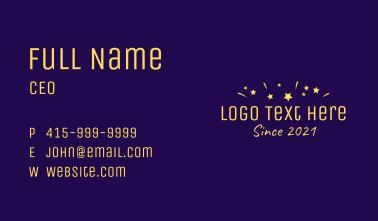 Confetti Wordmark Business Card