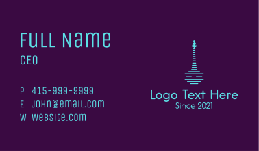Neon Rondalla Music Instrument Business Card