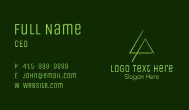 Minimalist Letter LA Business Card