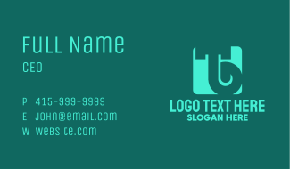 Simple Green Letter TB Business Card