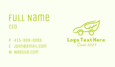 Eco Friendly Car  Business Card