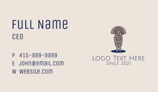 Mayan Sculpture  Business Card