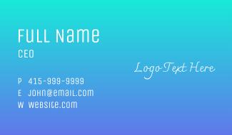 Angel Wordmark Business Card