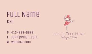 Ballerina Girl Cartoon  Business Card