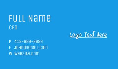 Handwritten Study Wordmark Business Card