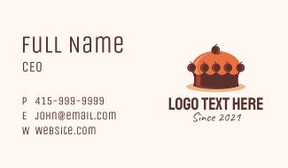 Crown Cake Shop  Business Card