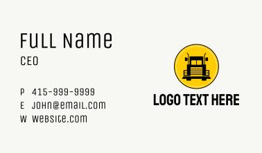 Trailer Truck Transportation  Business Card