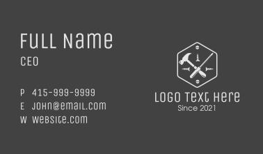 Mechanic Repair Tool Business Card