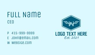 Blue Eagle Insignia Outline  Business Card