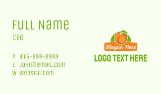 Orange Fruit Banner Business Card