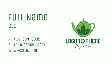 Green Tea Pot Business Card