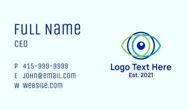 Minimal Optometric Logo Business Card