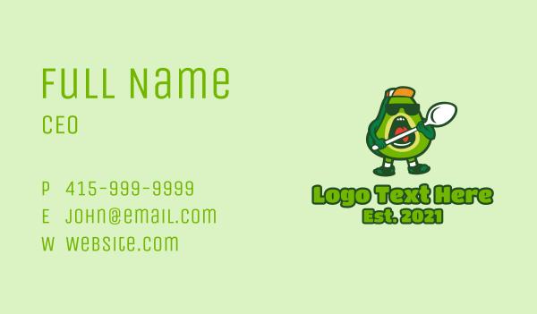 avocado - Cool Avocado Spoon  Business card horizontal design
