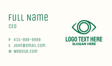 Green Eye Lens Business Card