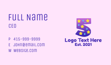 Starry Five Business Card