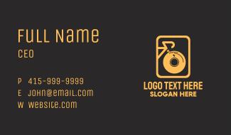 Golden Bike DJ  Business Card