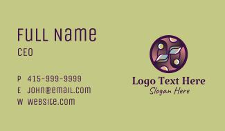 Organic Products Emblem Business Card