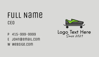 Skateboard Sneakers  Business Card