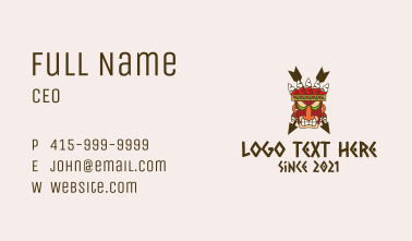 Ancient Tribal Mask  Business Card