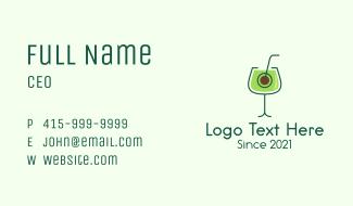 Avocado Drink Business Card