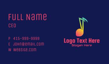 Rainbow Music  Business Card