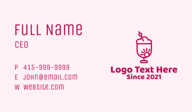 Pink Sunrise Smoothie  Business Card