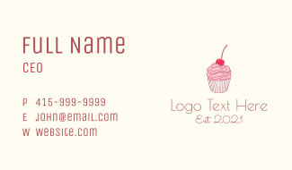 Sweets Shop Line Art Business Card