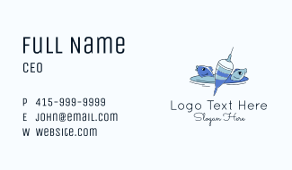Floater Lure Fish Business Card
