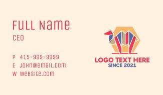 Geometric Camel Business Card
