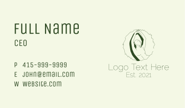 Aesthetic Stretching  Business Card