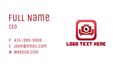 Couch Photography App Business Card