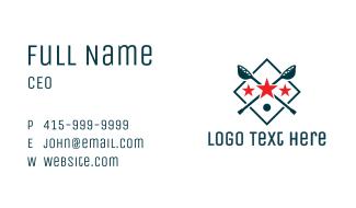 Lacrosse Sport Shield Business Card