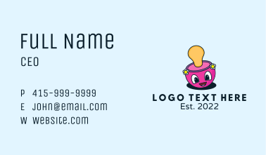 Cute Mascot Pacifier Business Card