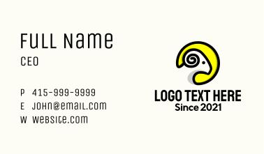 Ram Head Emblem  Business Card